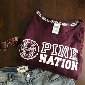 Victoria's Secret PINK Burgundy Sweatshirt